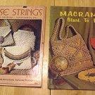 VINTAGE MACRAME BOOKS PURSE STRINGS HANDBAGS AND MACRAME START TO FINISH CRAFT MANUALS FREE SHIPPING