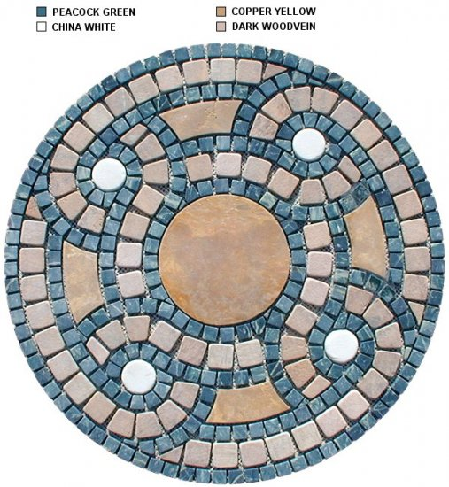 Marble Mosaic Medallion - MD008 - 600mm