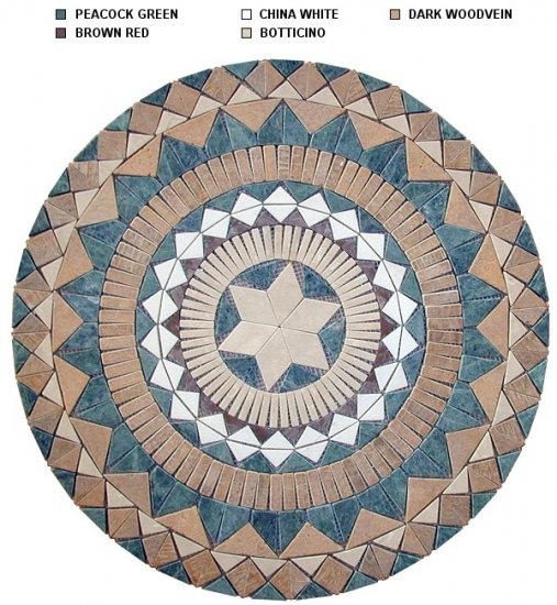 Marble Mosaic Medallion Colorful and Popular 24 inch