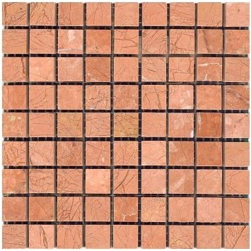Polished Coral Red 10mm Tesserae Partial Sheets