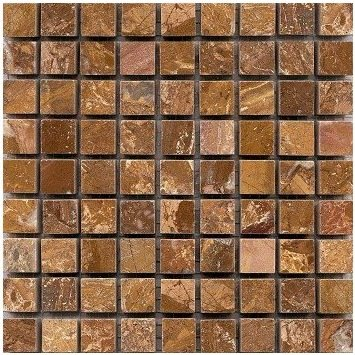 Loose Polished Copper Yellow Marble Mosaic Tesserae 7mm Thick