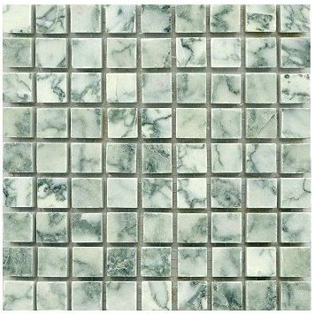Loose Polished Lotus Green Marble Mosaic Tesserae 7mm Thick