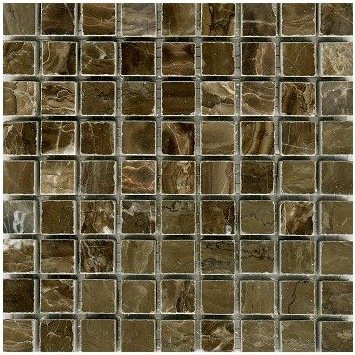 Loose Polished Coffee Marble Mosaic Tesserae 7mm Thick