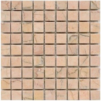 Loose Polished Rojo Alicante Marble Mosaic Tesserae 7mm Thick