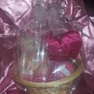 Wax Dipped Bear & Candle Large Gift Basket