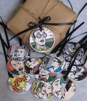 Comic Strip Gift & Scrapbooking Tags
