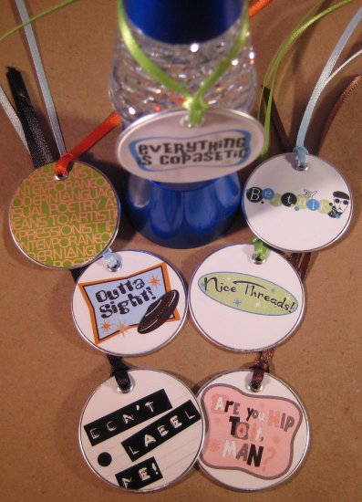 Totally Hip Retro Gift & Scrapbooking Tags