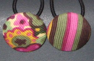 Flowers and Stripes Ponytail Holders Hair Accessories