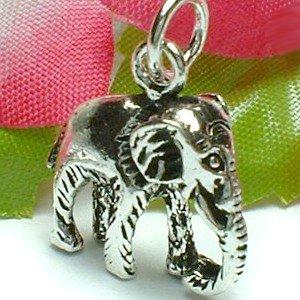 925 STERLING SILVER ELEPHANT CHARM / PENDANT