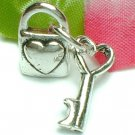 925 STERLING SILVER LOVE LOCK WITH KEY CHARM / PENDANT