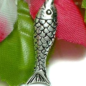 925 STERLING SILVER FISH CHARM / PENDANT