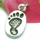 925 STERLING SILVER FOOTPRINT CHARM / PENDANT