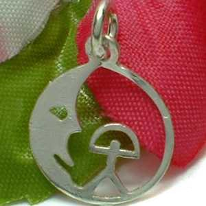 925 STERLING SILVER MOON AND MAN CHARM / PENDANT