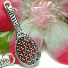 925 STERLING SILVER TENNIS RACKET CHARM / PENDANT