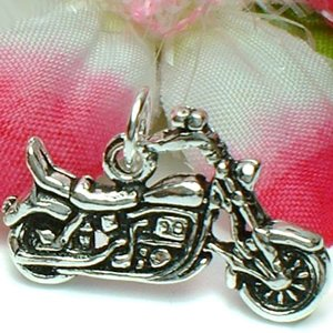 925 STERLING SILVER HARLEY DAVIDSON MOTORCYCLE CHARM / PENDANT