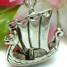 925 STERLING SILVER PHOENICIAN WARSHIP CHARM / PENDANT