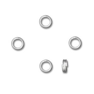 925 STERLING SILVER 5MM SPLIT RINGS X 5 PIECES