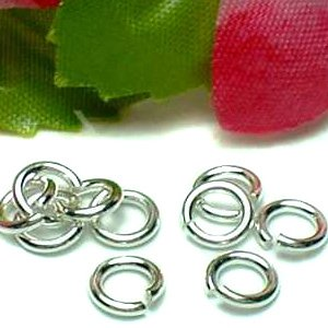 925 STERLING SILVER 5MM OPEN JUMP RING X 10 PIECES