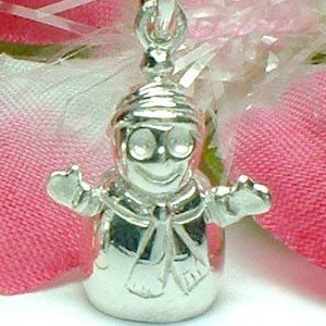 925 STERLING SILVER SNOWMAN CHARM / PENDANT