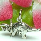 925 STERLING SILVER TRICERATOPS DINOSAUR CHARM / PENDANT