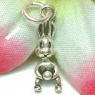 925 STERLING SILVER EASTER RABBIT CHARM / PENDANT