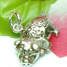 925 STERLING SILVER POTBELLY PIG CHARM / PENDANT