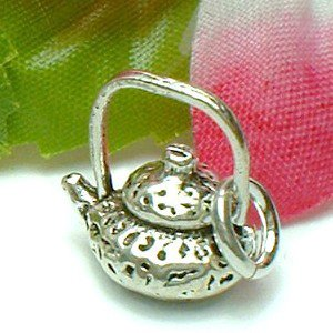 925 STERLING SILVER CHINESE TEAPOT CHARM / PENDANT
