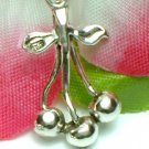 925 STERLING SILVER CHERRIES CHARM / PENDANT