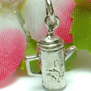 925 STERLING SILVER COFFEE POT CHARM / PENDANT