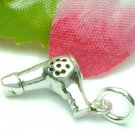 925 STERLING SILVER HAIR DRYER CHARM / PENDANT
