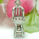 925 STERLING SILVER BENT WOOD CHAIR CHARM / PENDANT