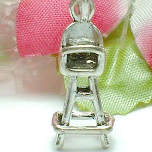 925 STERLING SILVER BABY HIGH CHAIR CHARM / PENDANT