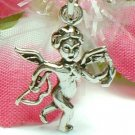 925 STERLING SILVER CUPID ANGEL WITH ARROW AND BOW CHARM / PENDANT