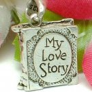 925 STERLING SILVER MY LOVE STORY BOOK LOCKET / PENDANT