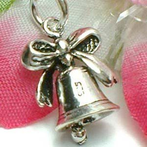 925 STERLING SILVER WEDDING BELL (MOVE) CHARM / PENDANT