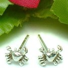 925 STERLING SILVER CRAB STUD EARRINGS