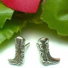 925 STERLING SILVER COWBOY BOOTS STUD EARRINGS