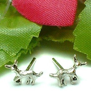 925 STERLING SILVER CHIHUAHUA DOG STUD EARRINGS