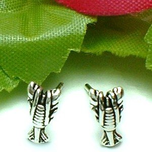 925 STERLING SILVER LOBSTER STUD EARRINGS