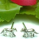 925 STERLING SILVER GOLDEN RETRIEVER PUP STUD EARRINGS