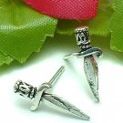 925 STERLING SILVER SWORD STUD EARRINGS