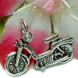 925 STERLING SILVER SCOOTER CHARM / PENDANT