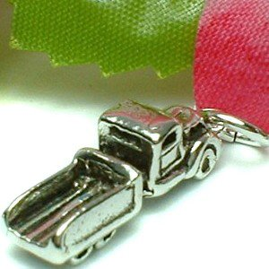 925 STERLING SILVER PICKUP TRUCK / LORRY CHARM / PENDANT