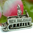925 STERLING SILVER NEW ORLEANS RIVERBOAT CHARM / PENDANT