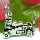 925 STERLING SILVER AUTOMOTIVE FLOOR JACK CHARM / PENDANT
