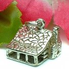 925 STERLING SILVER COTTAGE HOUSE CHARM / PENDANT