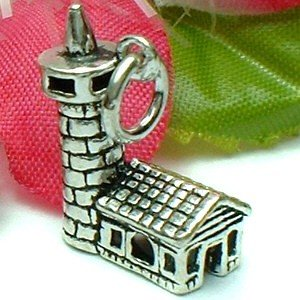 925 STERLING SILVER LIGHTHOUSE CHARM / PENDANT