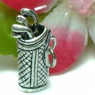 925 STERLING SILVER GOLF BAG AND CLUBS CHARM / PENDANT