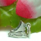 925 STERLING SILVER ICE SKATING BOOT CHARM / PENDANT