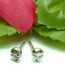 925 STERLING SILVER ALIEN STUD EARRINGS